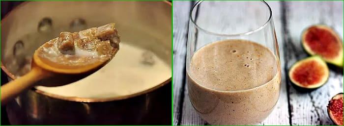 молоко с инжиром от кашля
